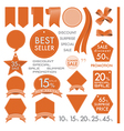Element Orange Leather labels on summer set vector image