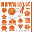 Element Orange Leather labels on summer set vector image vector image