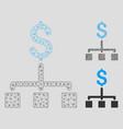 financial hierarchy mesh network model and vector image vector image