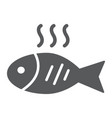 fish glyph icon food and animal seafood sign vector image