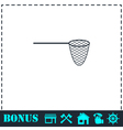 Fishing net icon flat vector image vector image