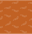 fox pattern seamless color vector image