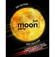 Full Moon Beach Party Flyer Design EPS 10 vector image vector image
