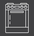 gas stove line icon kitchen and appliance vector image vector image