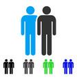 gay couple flat icon vector image vector image