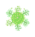 global green vector image vector image