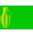 Grunge Grenade vector image vector image