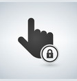 hand icon touch screen locked icon click symbol vector image vector image