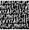 Handwritten Alphabet Seamless Pattern On black vector image vector image