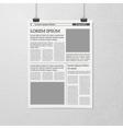 Hanging Newspaper Concept vector image