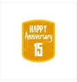 Happy 15th Anniversary badge sign and emblem in vector image vector image