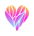heart composition on white background vector image vector image