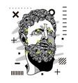 hercules portrait sculpture modern geometric vector image vector image
