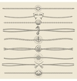 hipster style hand drawn nautical divider set vector image vector image