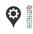 industry map marker icon with free bonus vector image vector image