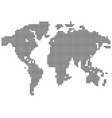 isolated black color worldmap of dots on white vector image vector image