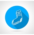 Knitted socks flat icon vector image