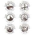 Label set with landmarks of San Francisco vector image vector image