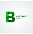Letter B logo template vector image