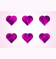 love hearts icons logo set vector image vector image