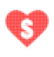 love price halftone dotted icon vector image vector image