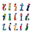 modern font of alphabet letter i branding design vector image