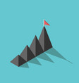 mountains flag goal concept vector image