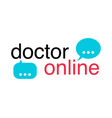 neon doctors mobile app sign with message icon vector image vector image