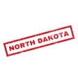 North Dakota Rubber Stamp vector image