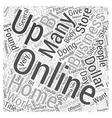 Online Dollar Store Word Cloud Concept vector image vector image