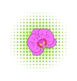 Orchid flower icon comics style vector image
