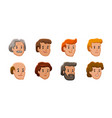 people icons male and female faces avatars in vector image