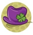 Purple hat vector image vector image