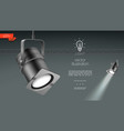 realistic spotlights for stage lighting template vector image vector image