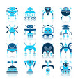 robot transformer color flat icon set vector image
