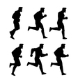 Running Man Silhouette Animation Sprite vector image