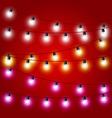 sagging strung christmas lights - carnival vector image
