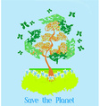 Save the Planet - of recycling with ecological vector image vector image