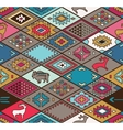 Seamless colorful navajo pattern with rhombus vector image vector image