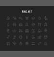 set line icons fine art vector image