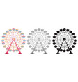 set of ferris wheel on white backgrond vector image