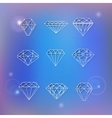 Set of polygonal diamonds vector image