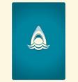 Shark jaws logo blue symbol vector image
