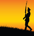 soldier on guard in nature vector image