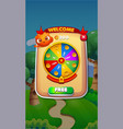 spin wheel mobile game user interface gui assets vector image