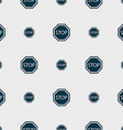 Stop icon sign Seamless pattern with geometric vector image