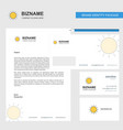 sun business letterhead envelope and visiting vector image vector image