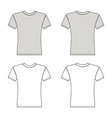 t shirt man template front back views vector image vector image