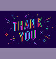 thank you greeting card banner poster for vector image vector image