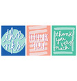 thanks thank you lettering design vector image vector image